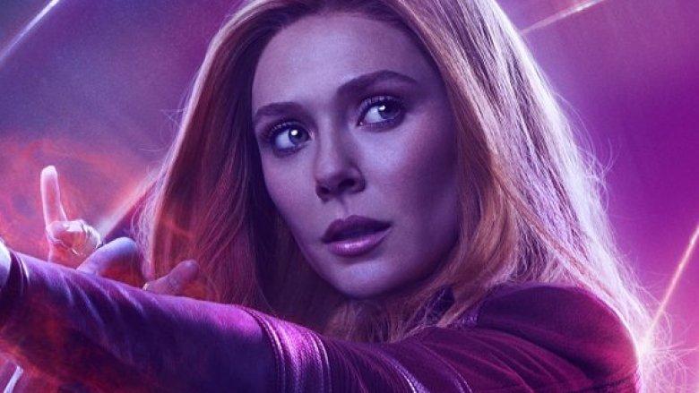 Elizabeth Olsen Scarlet Witch Avengers Infinity War poster