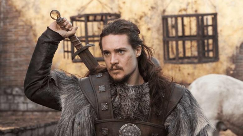 Alexander Dreymon as Uhtred on The Last Kingdom