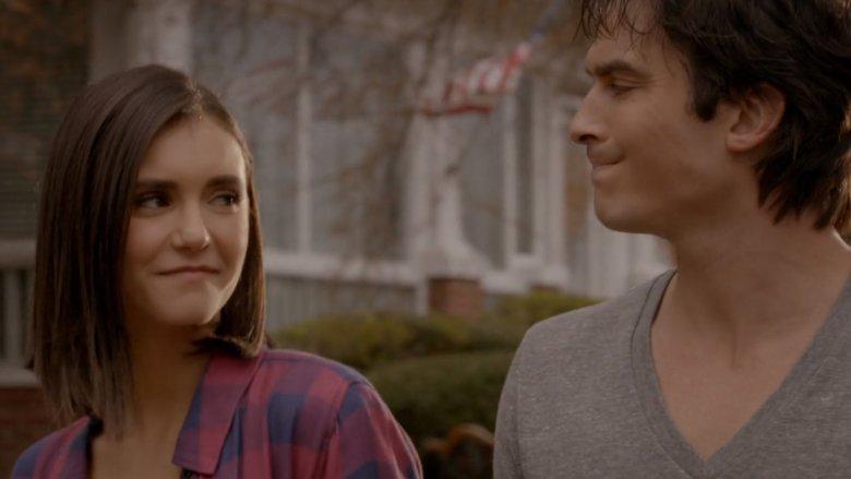 Nina Dobrev and Ian Somerhalder in The Vampire Diaries