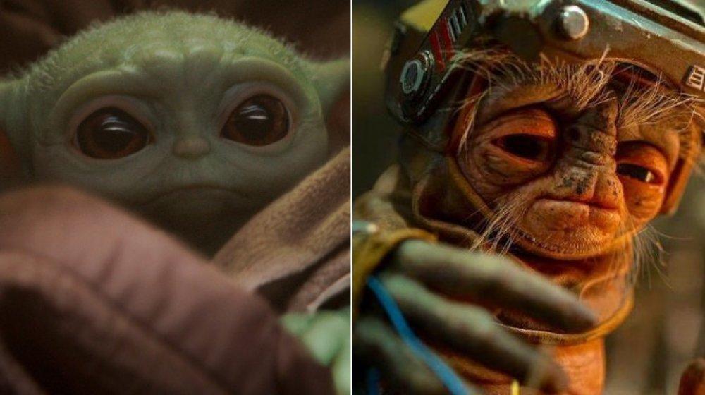 Baby Yoda and Babu Frik