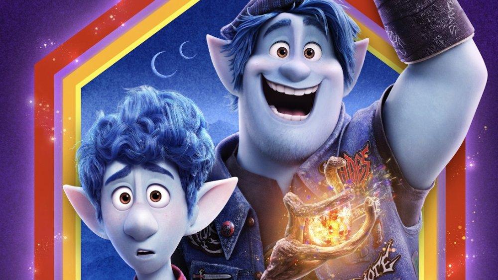 Tom Holland as Ian and Chris Pratt as Barley in Pixar's Onward