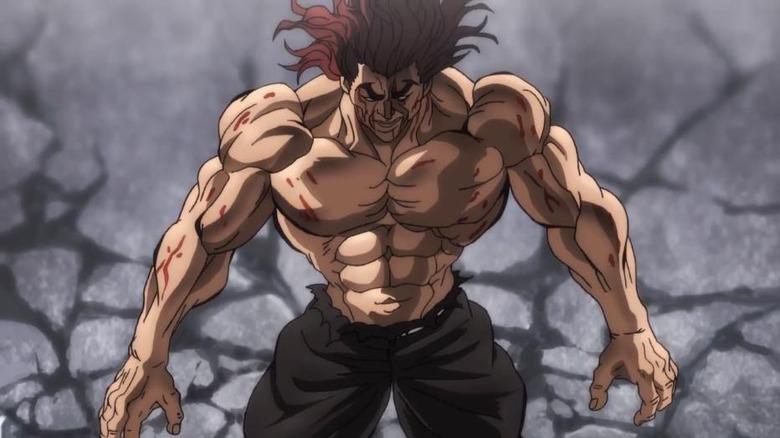 Yuujiro beaten and bloody