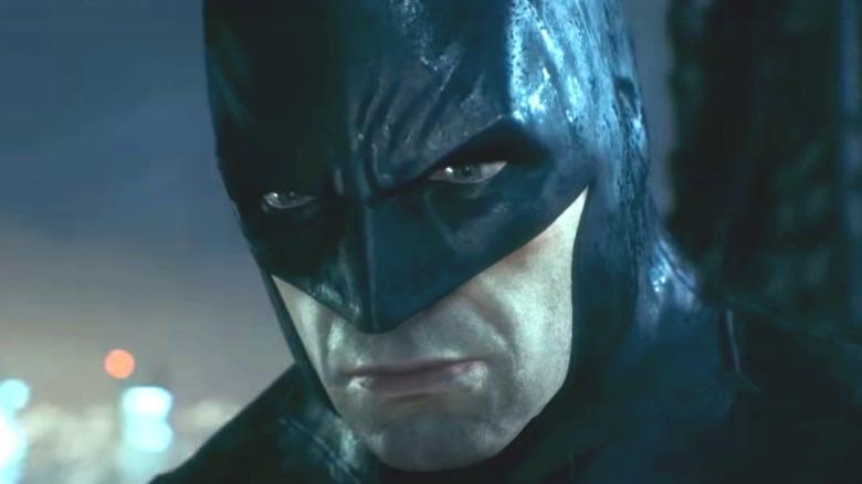 Batman looking glum