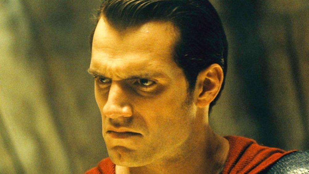 Superman looking mad