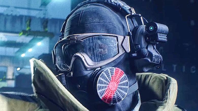 Battlefield 2042 soldier in gas mask