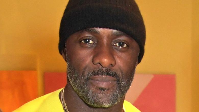 Idris Elba in black knit cap