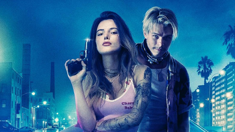Bella Thorne as Arielle Summers and Jake Manley as Dean Taylor in Infamous
