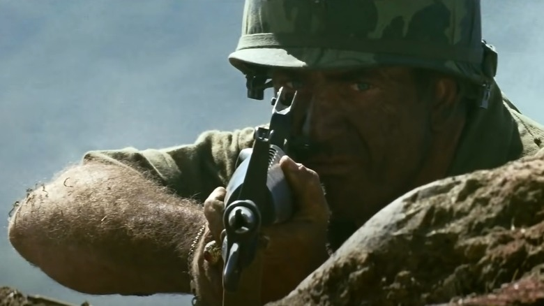 Mel Gibson with gun