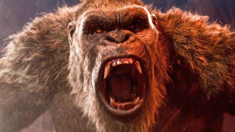 King Kong roaring in Godzilla vs. Kong