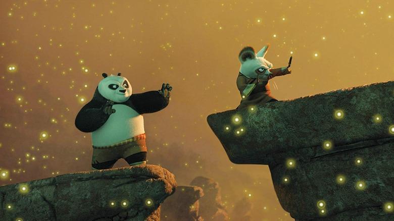 Po and Sifu training