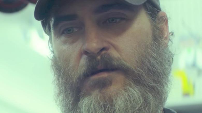 Joaquin Phoenix looking sad
