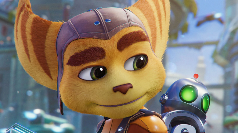 Ratchet looks at Clank