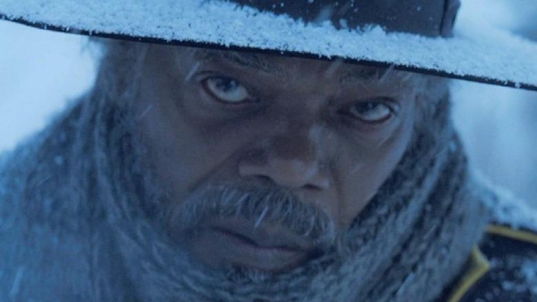 Major Marquis Warren glares