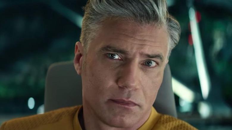 Anson Mount as Captain Christopher Pike on Star Trek: Strange New Worlds