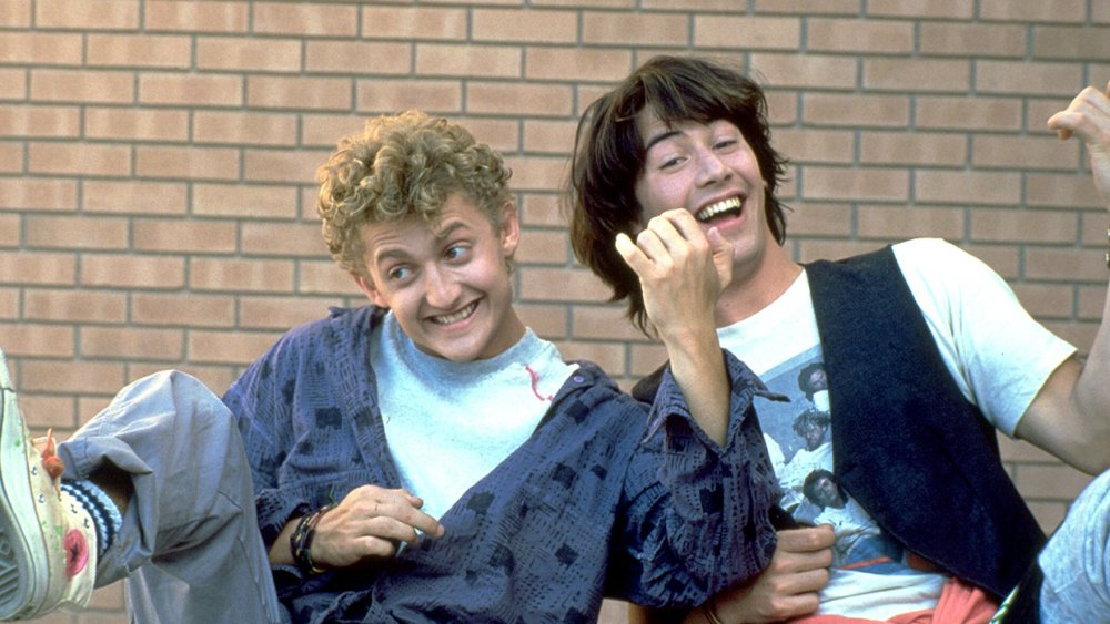 Scene from Bill & Ted's Excellent Adventure