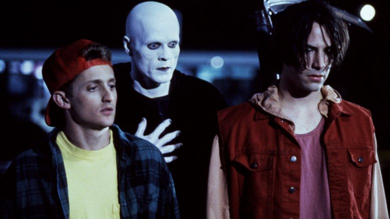 Alex Winter, William Sadler and Keanu Reeves in Bill & Ted's Bogus Journey