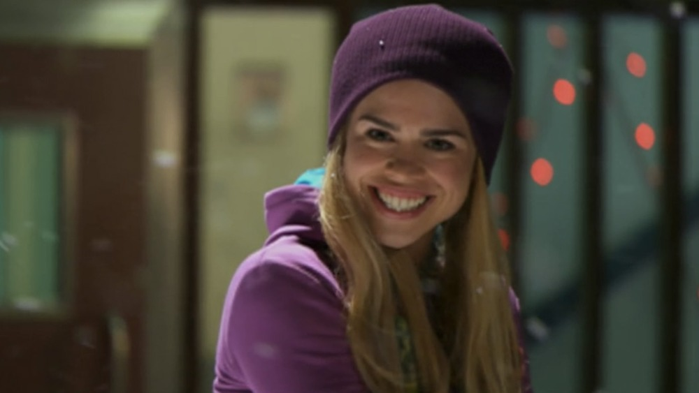 Rose Tyler (Billie Piper) in the snow on Doctor Who