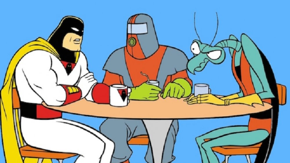 Space Ghost, Moltar, And Zorak In The Commissary
