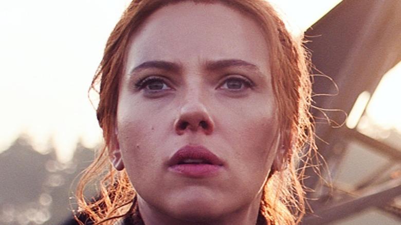 Black Widow looking worried