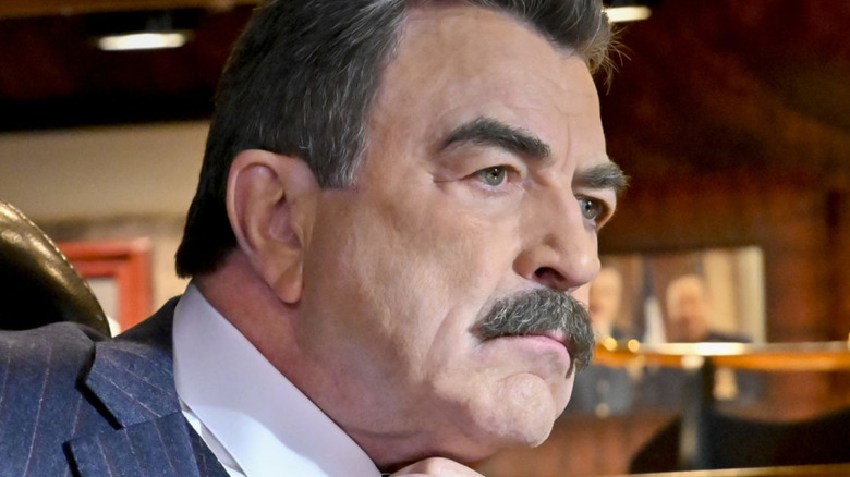 Blue Bloods Frank Reagan in close-up