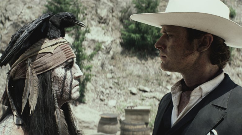 Armie Hammer and Johnny Depp in The Lone Ranger (2013)