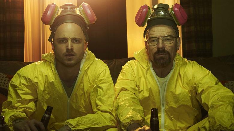 Bryan Cranston and Aaron Paul in Breaking Bad