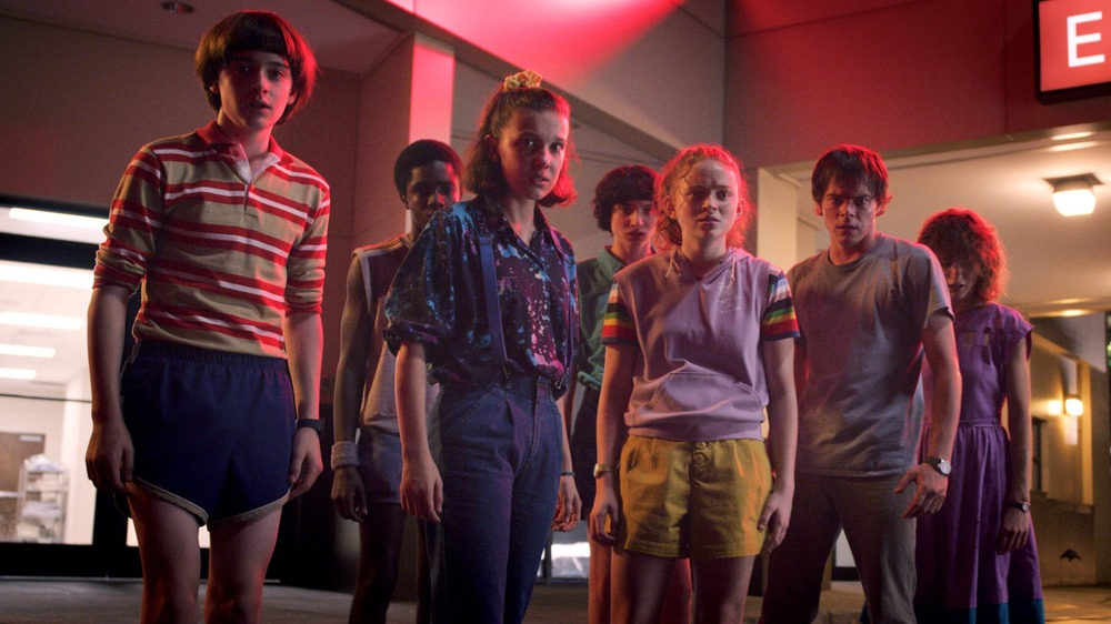 The cast of Stranger Things taking on monsters from other dimensions