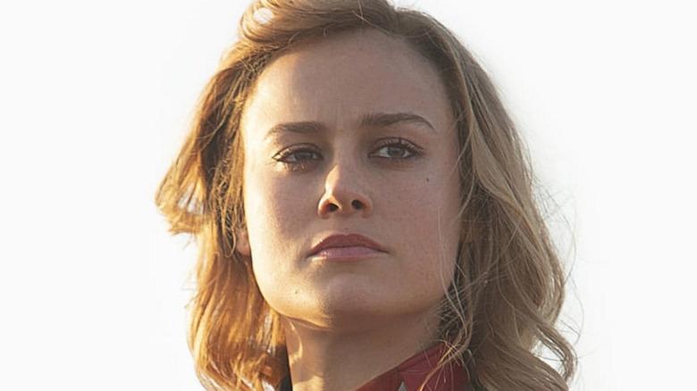Captain Marvel white background
