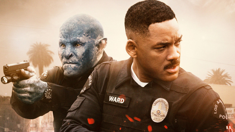 Joel Edgerton and Will Smith on Netflix's poster for Bright