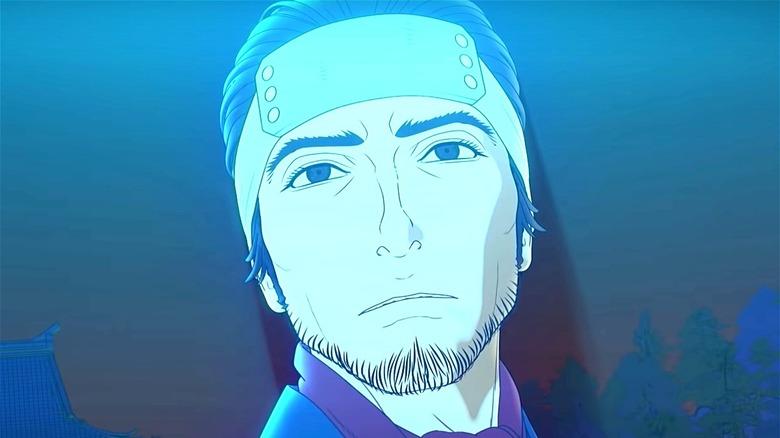 Izou with blue light in Bright: Samurai Soul
