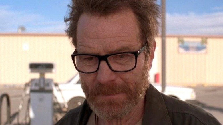 Walter White looking glum Breaking Bad