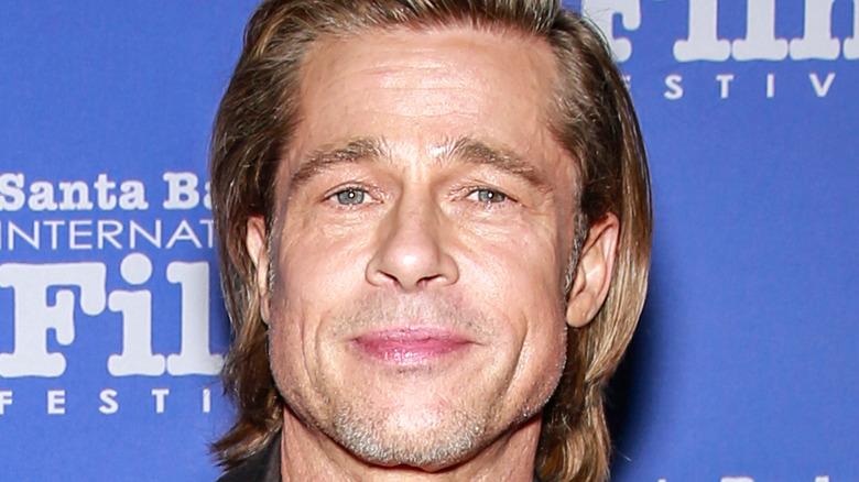 Brad Pitt smiling