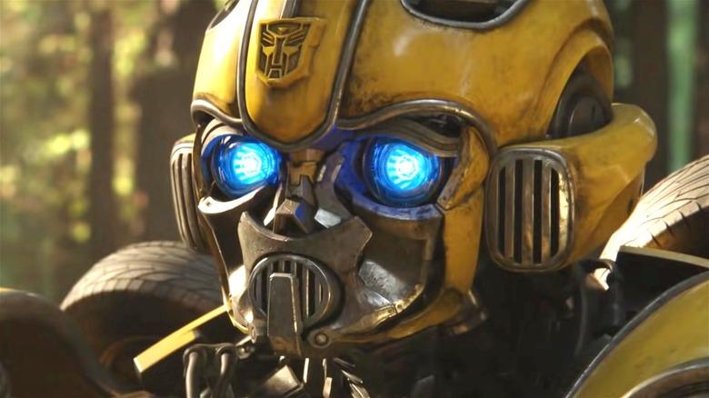 Yellow Bumblebee Transformer looking sad