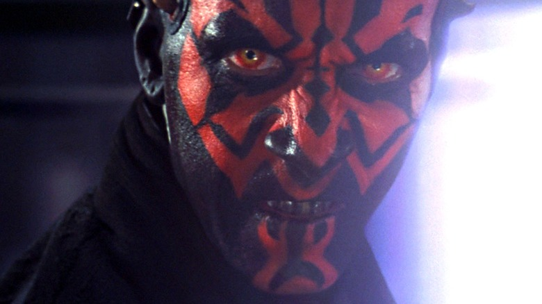 Darth Maul staring intently in close-up