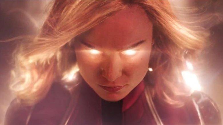 Captain Marvel glowing eyes