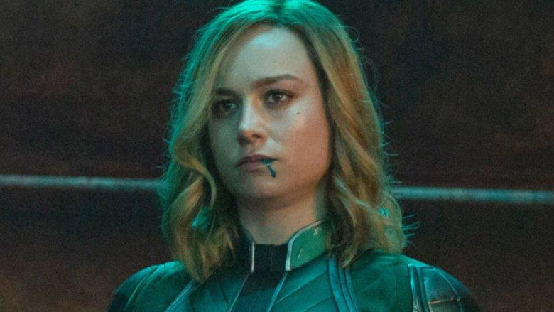 Brie Larson Captain Marvel in Kree Starforce uniform