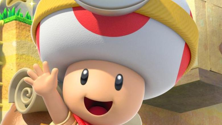 Captain Toad waving
