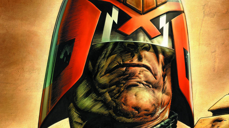 Judge Dredd comic cover