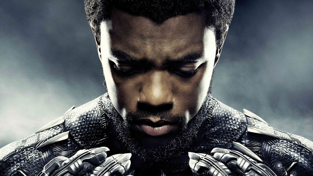 Chadwick Boseman as T'Challa in promo art for Black Panther