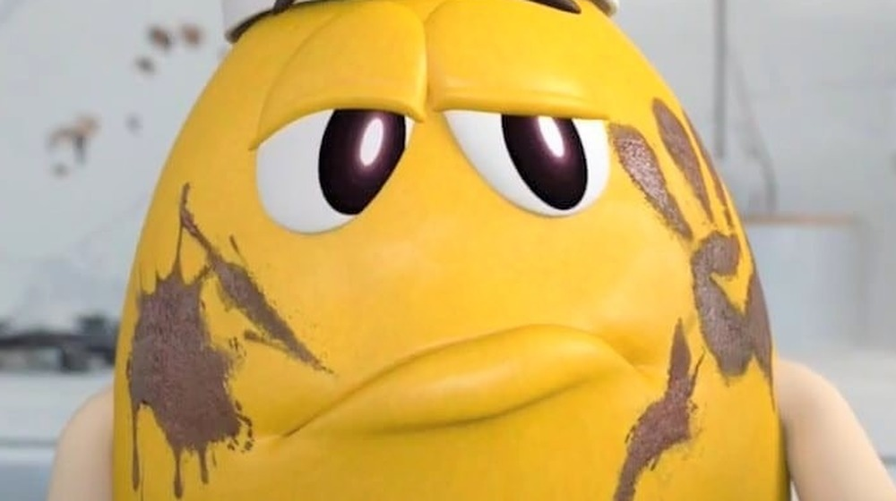 Yellow M&M frowning