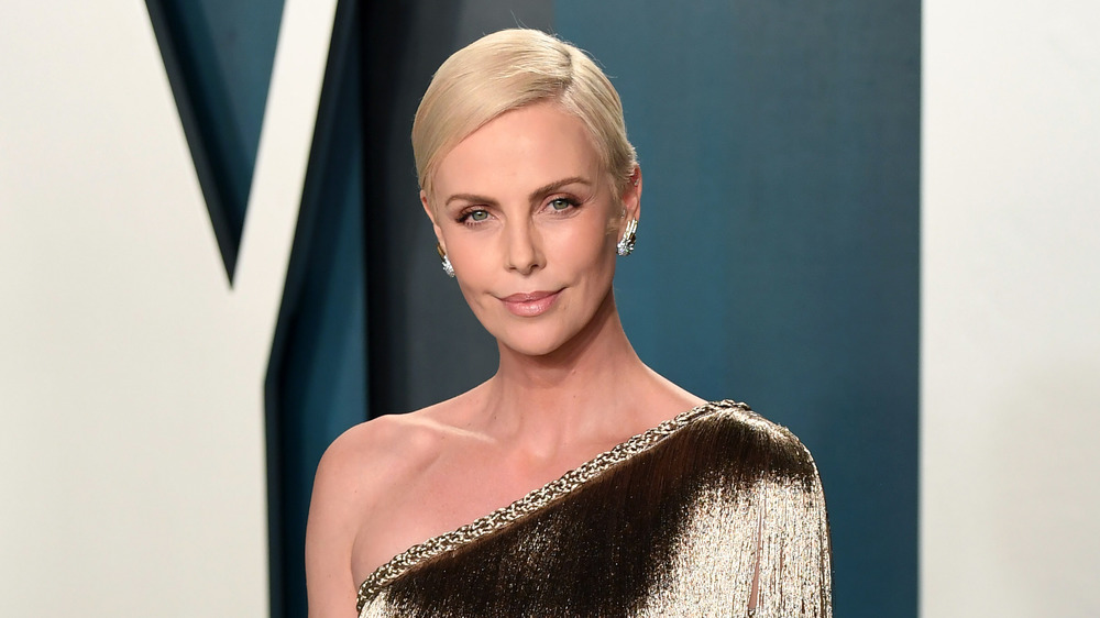 Charlize Theron at a press event