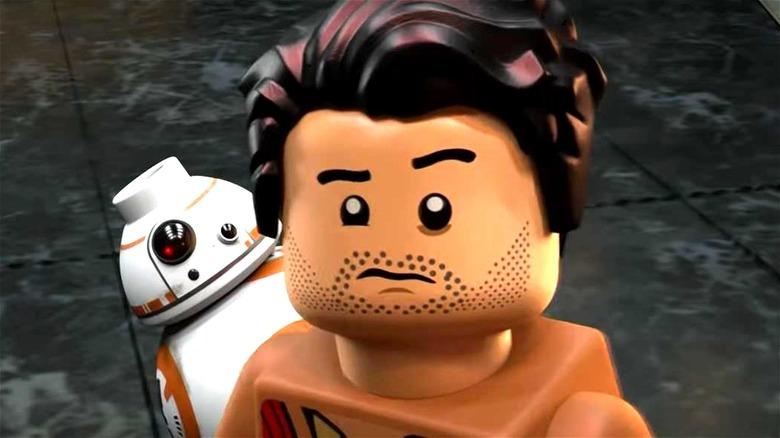 LEGO Poe Dameron looking confused