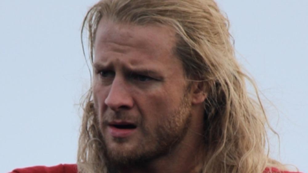Thor's stunt double posing