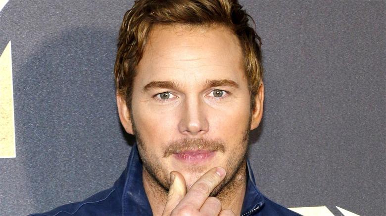 Chris Pratt pinching chin