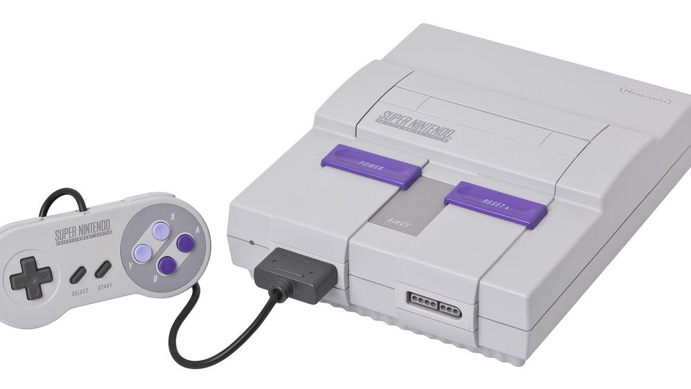 Super Nintendo console and controller