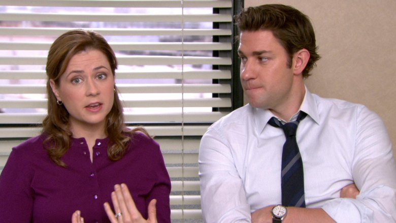 Jenna Fischer and John Krasinski in The Office