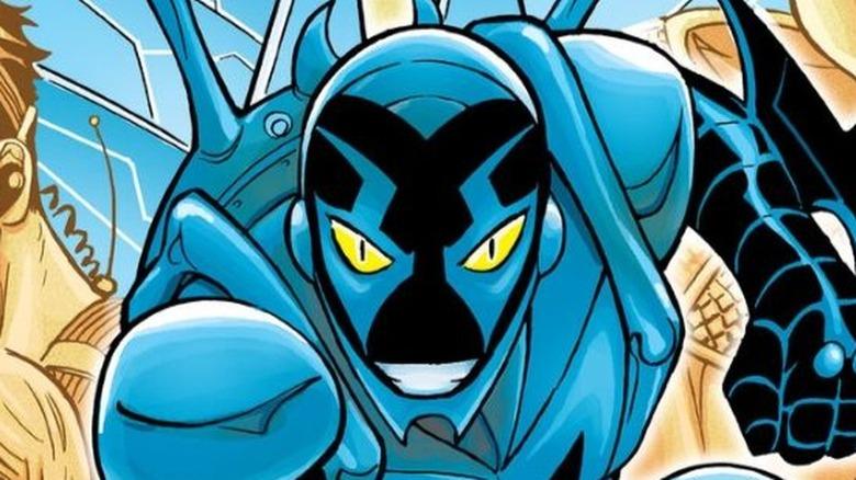 Blue Beetle smiling