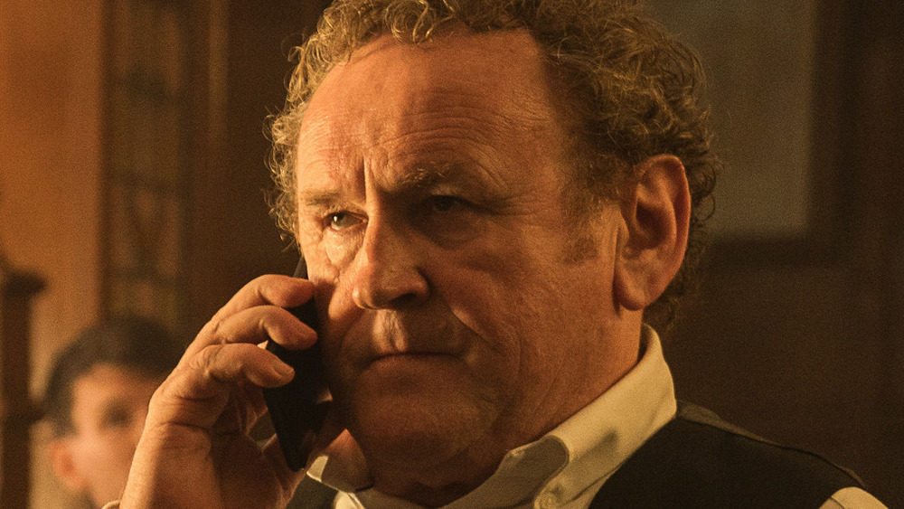 Colm Meaney takes call
