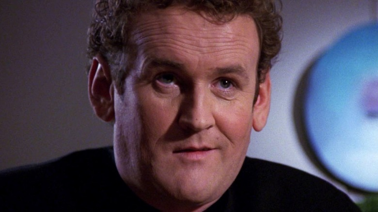 Chief O'Brien smiles