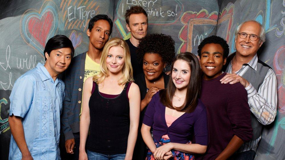 The cast of NBC's Community on season 2